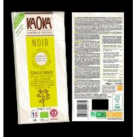 CHOCOLAT NOIR 58% - CITRON GINGEMBRE 100 G KAOKA