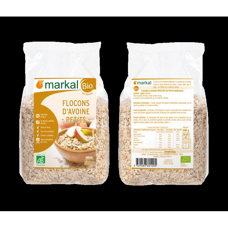 FLOCONS D'AVOINE PETITS 500 G MARKAL