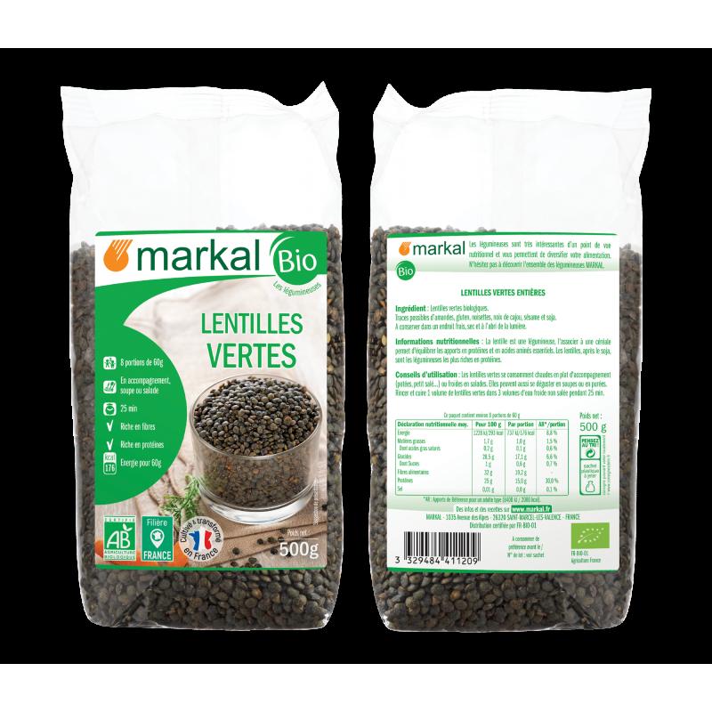 LENTILLES VERTES 500 G MARKAL