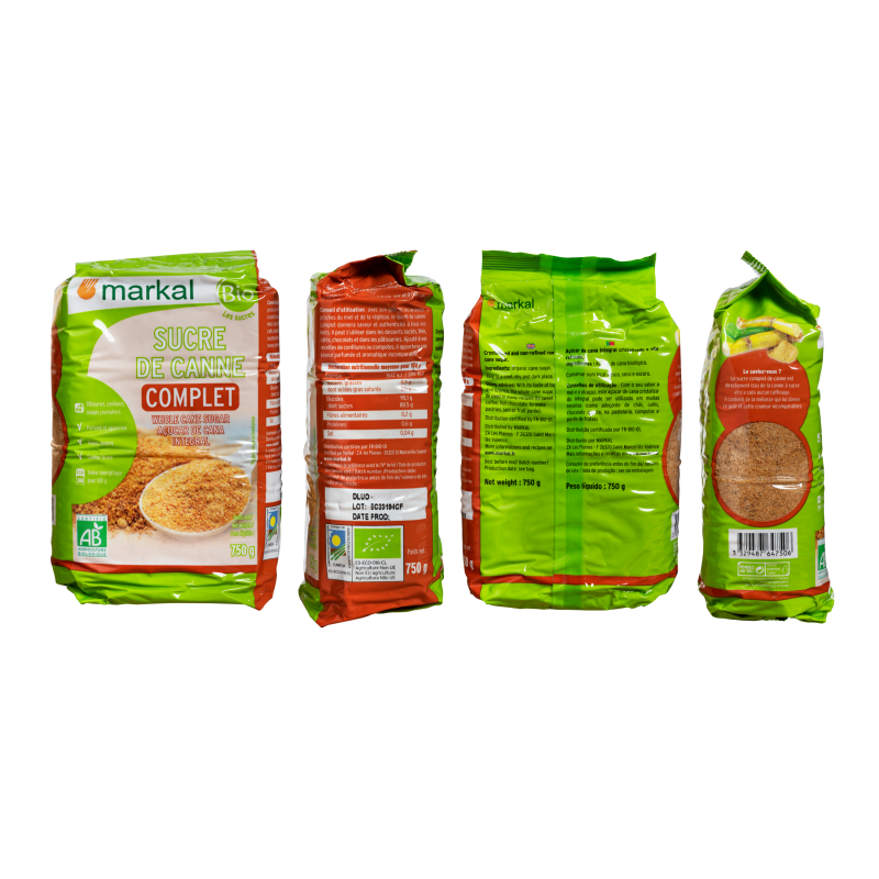 SUCRE DE CANNE COMPLET 750 G MARKAL
