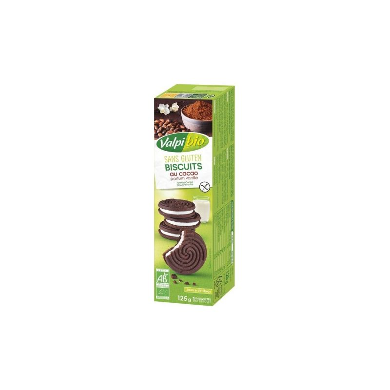 BISCUITS CACAOTES PARFUM VANILLE 125 G