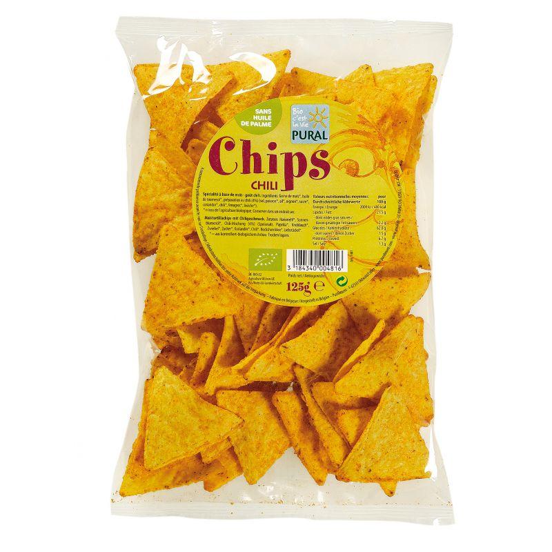 CHIPS MAIS CHILI 125 G PURAL