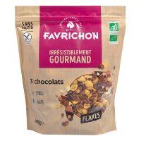 FLAKES 3 CHOCOLAT  400 G FAVRICHON