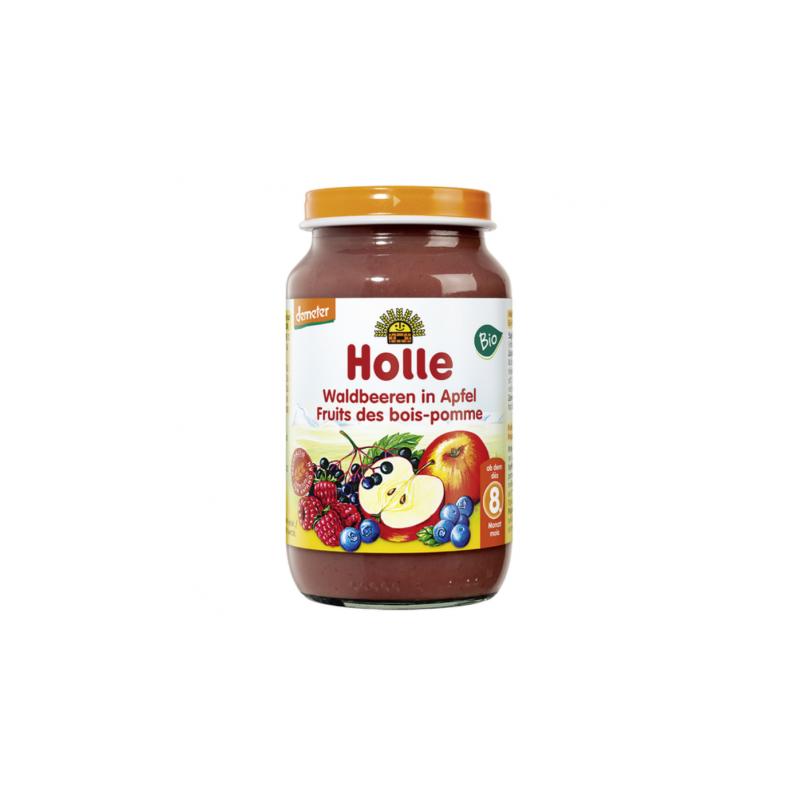HOLLE PETIT POT POMME ET FRUITS DES BOIS 220G