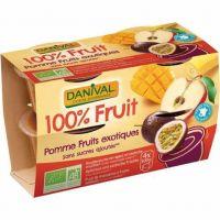 DESSERT DE FRUITS POMME FRUITS EXOTIQUES 4X 100 G
