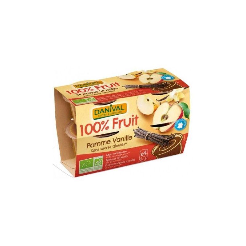 DESSERT DE FRUITS POMME VANILLE 4X100 G