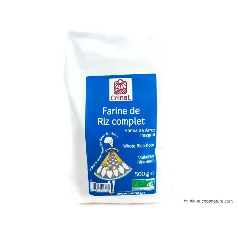 FARINE DE RIZ COMPLET 500 G CELNAT