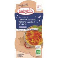 BOL BONNE NUIT MOUSSELINE DE CAROTTE TOMATE POLENTA 2*200G BABYBIO