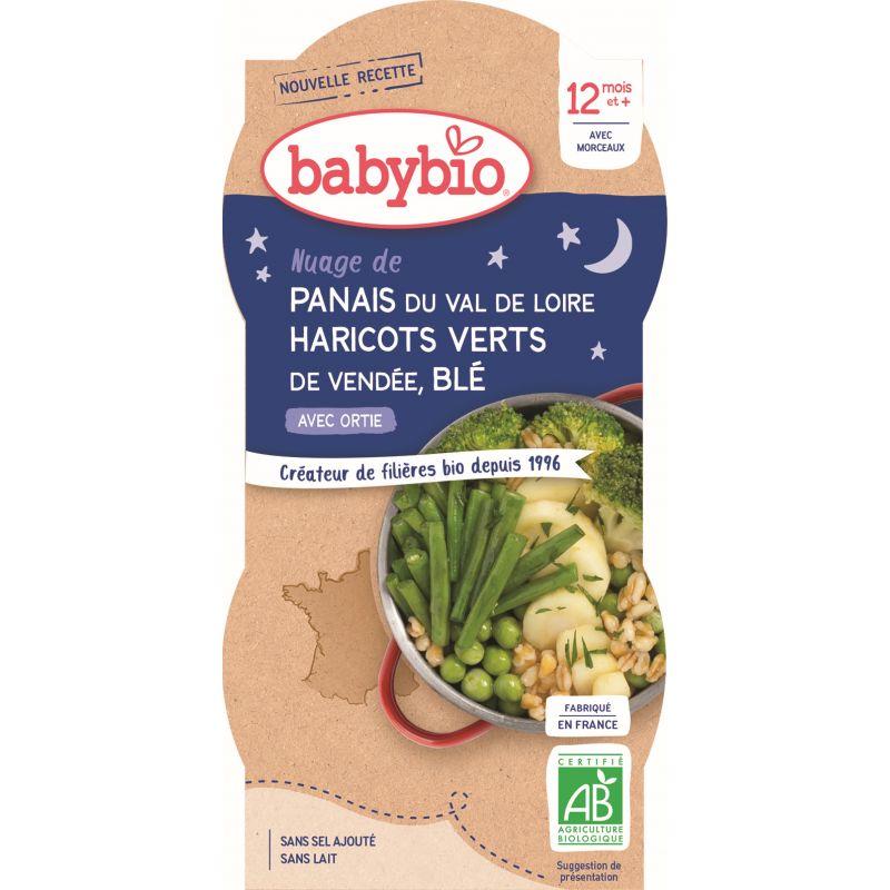 BOL BONNE NUIT PANAIS HARICOTS VERTS BLÉ 2*200G BABYBIO