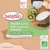 BRASSÉ AU LAIT DE COCO KIWI D'AQUITAINE BANANE 4*85G BABYBIO