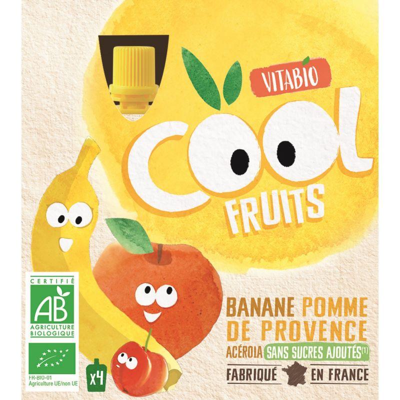 COOL POMME BANANE + ACÉROLA 4*90 G VITABIO