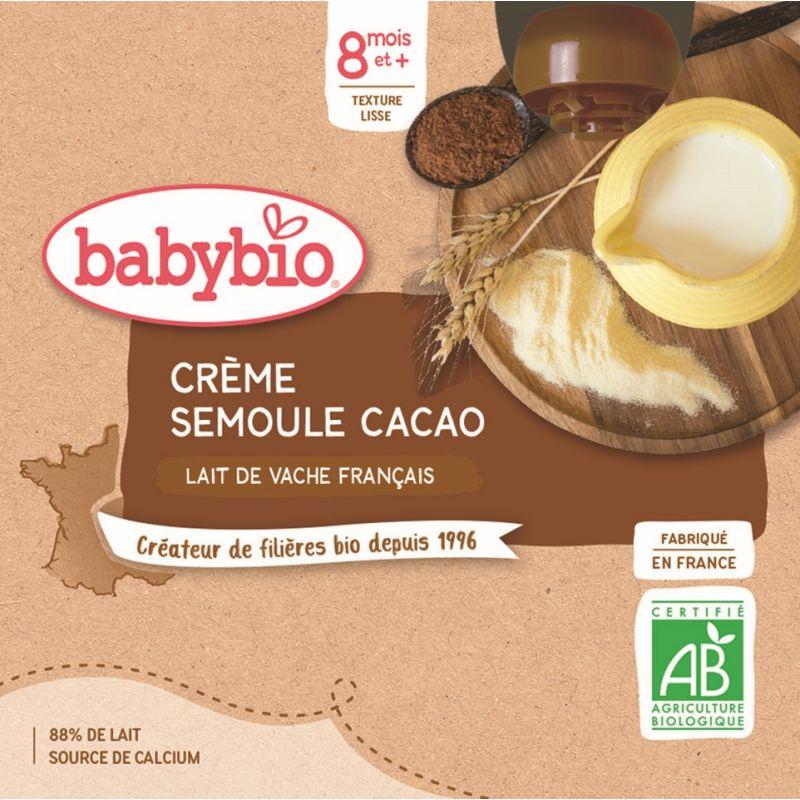 GOURDE CRÈME SEMOULE CACAO 4*85 G BABYBIO