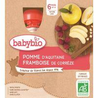 GOURDE POMME D'AQUITAINE FRAMBOISE 4*90 G BABYBIO