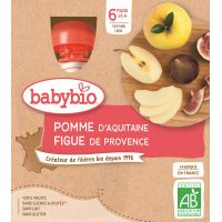 GOURDE POMME FIGUE DE PROVENCE 4*90 G  BABYBIO