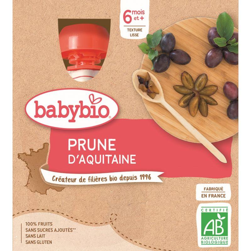GOURDE PRUNE D'AQUITAINE 4*90 G  BABYBIO