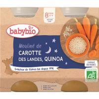 POT BONNE NUIT MOULINÉ DE CAROTTE QUINOA 2*200 G BABYBIO