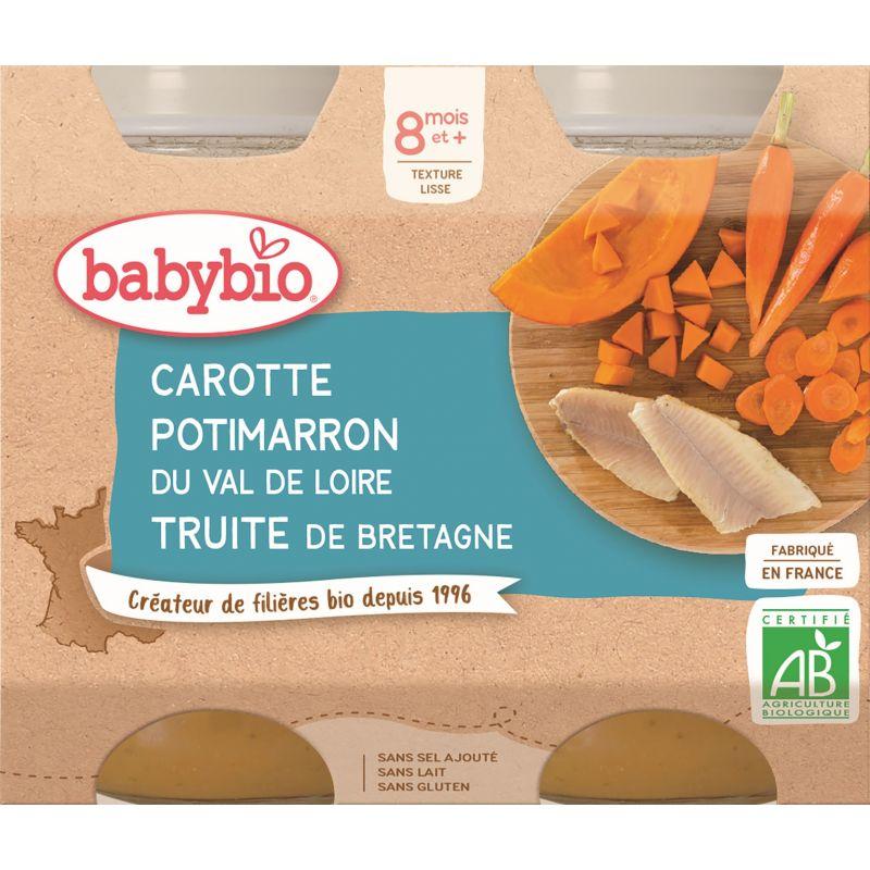 POT CAROTTE POTIMARRON TRUITE 2*200 G BABYBIO