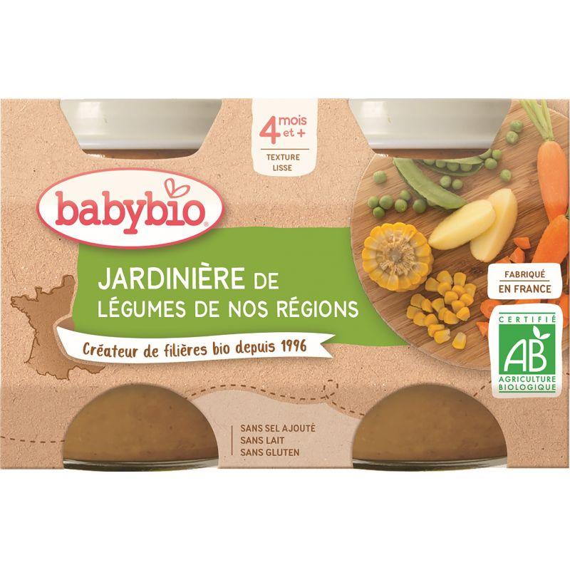 POT JARDINIÈRE DE LÉGUMES DE NOS RÉGIONS 2*130 G BABYBIO