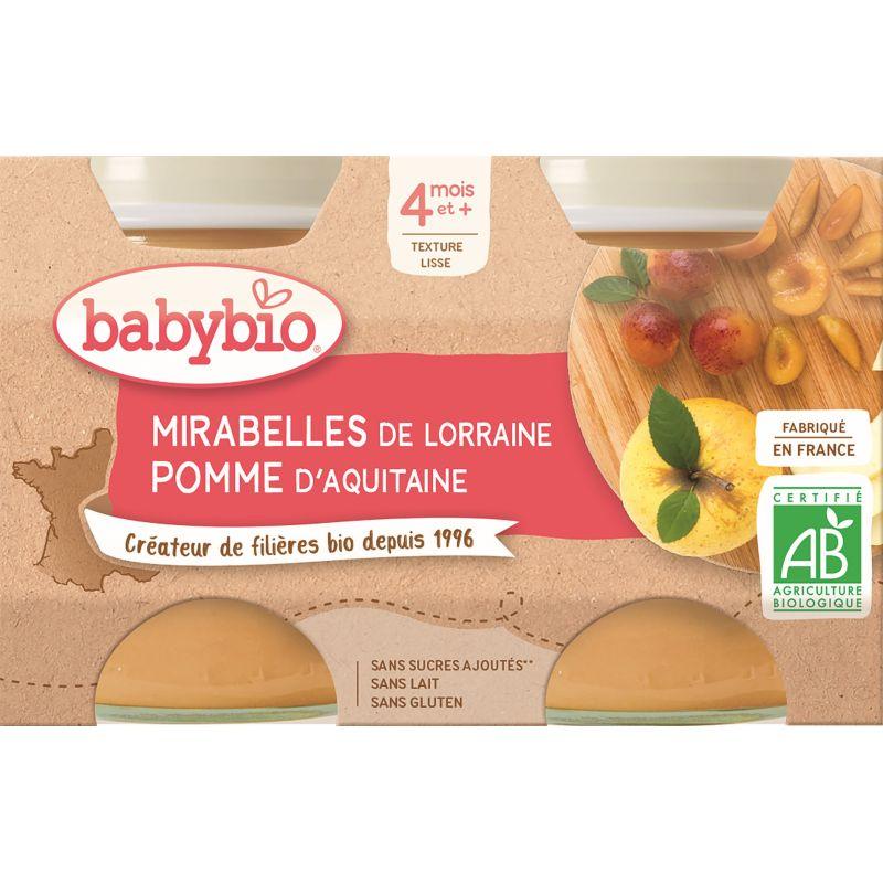 POT MIRABELLE DE LORRAINE POMME 2*130 G BABYBIO