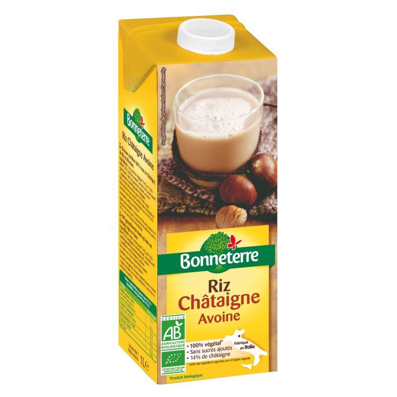 BOISSON RIZ CHATAIGNE AVOINE 1L