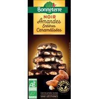 CHOCOLAT NOIR AMANDES CARAMELISEES 200G