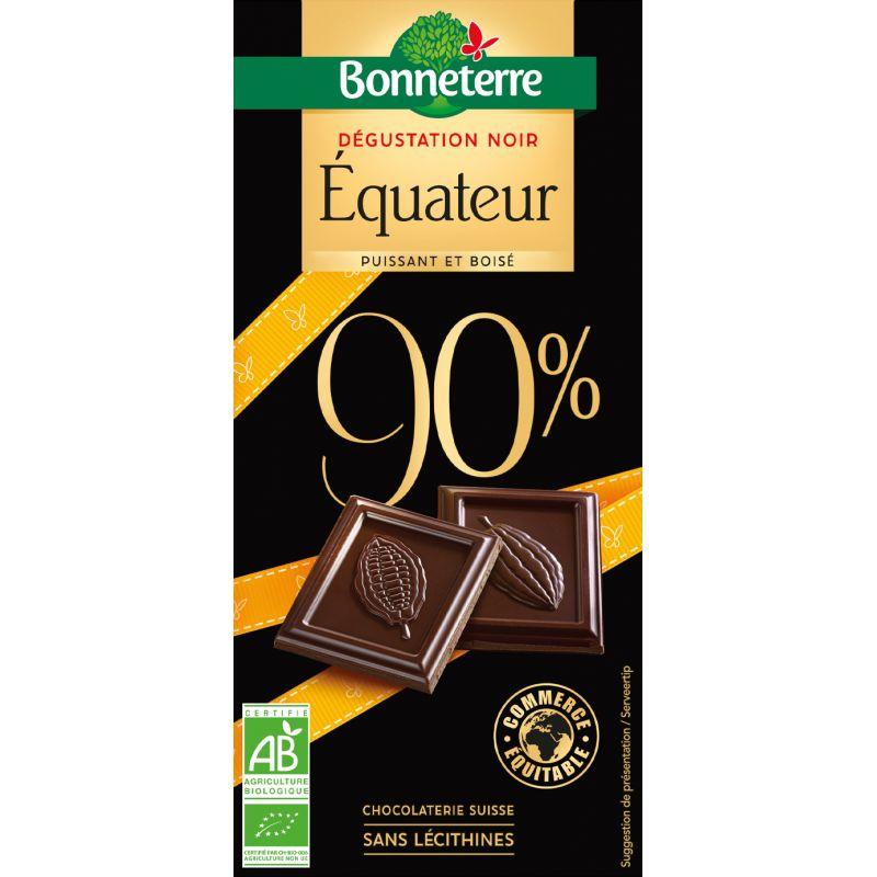 CHOCOLAT NOIR EQUATEUR 90% 80G