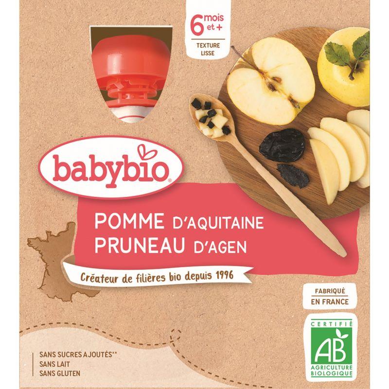 GOURDE POMME PRUNEAU D'AGEN 4*90 G BABYBIO - 23